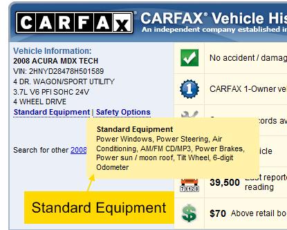 пример carfax